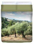Olive Trees Hill Duvet Cover