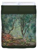 Olive Trees In The Moreno Garden Duvet Cover