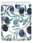 Olive Watercolor 2018 Duvet Cover