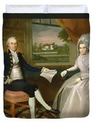 Oliver And Abigail Wolcott Ellsworth 1801 Duvet Cover