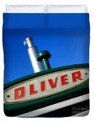 Oliver Tractor Nameplate Duvet Cover