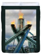 Olympic Flame Duvet Cover