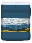 Olympic Mountains Duvet Cover