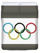 Olympic Rings Pencil Duvet Cover