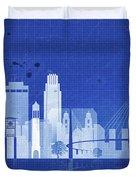 Omaha Blueprint Skyline Duvet Cover