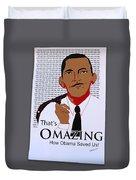 Omazing Obama 1.0 Duvet Cover