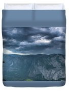 Ominous Clouds Over Glacier Point Duvet Cover