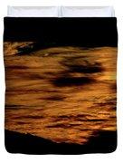 Ominous Orange Duvet Cover
