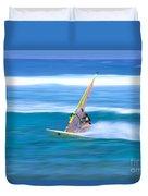 On A Calm Blue Ocean Duvet Cover