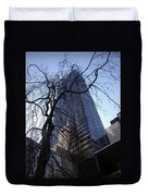 On A Clear Day...moma Courtyard Ny City Duvet Cover