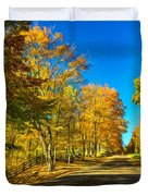 On A Country Road 4 - Paint Duvet Cover