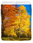 On A Country Road 6 - Paint Duvet Cover