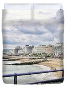 On Brighton's Palace Pier Duvet Cover