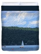 On Cayuga Lake Duvet Cover