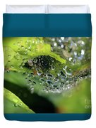 On Drops Of Dew Duvet Cover