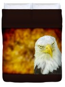 On Fire The American Bald Eagle Duvet Cover