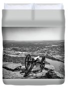 On Guard At Point Park Lookout Mountain In Tennessee Duvet Cover