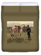 On Patrol In The Country Duvet Cover