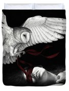 On Silent Wings Duvet Cover by Pat Erickson