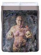 On The Altar Of Skull Carson #3. A Self-portrait, 2016 Duvet Cover