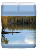 On The Bend Of The River Duvet Cover