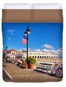 On The Boardwalk Duvet Cover