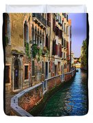 On The Canal-venice Duvet Cover