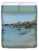 On The Capri Coast Duvet Cover by Paul von Spaun