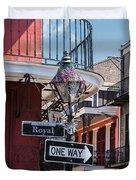 On The Corner Of Royal Street Duvet Cover