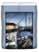 On The Docks In Provincetown Duvet Cover