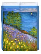 On The Hillside Duvet Cover