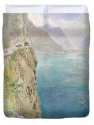 On The Italian Coast Duvet Cover