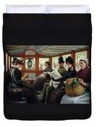 On The Omnibus Duvet Cover