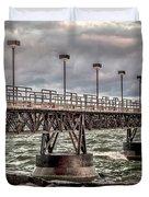 On The Pier Duvet Cover