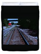 On The Railroad Tracks Duvet Cover