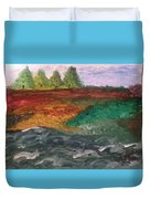 On The River's Edge Duvet Cover