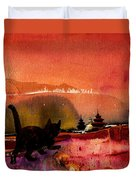 On The Road To Catmandu Duvet Cover