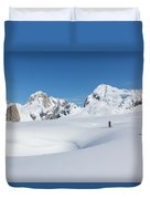 On The Ruth Glacier Duvet Cover