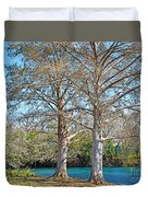 On The San Marcos River Texas Duvet Cover