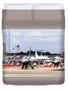 On The Taxiway Duvet Cover