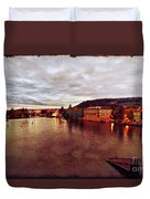 On The Vltava River Duvet Cover