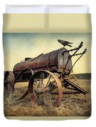 On The Water Wagon - Agricultural Relic Duvet Cover by Gary Heller
