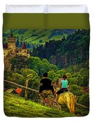 On The Way To Bran Castle Duvet Cover