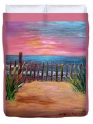 On The Way To Cape May Duvet Cover