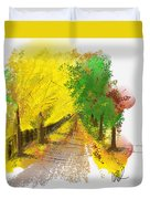On The Yellow Road Duvet Cover