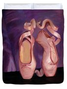 On Pointe - Mirror Image By Marilyn Nolan-johnson Duvet Cover