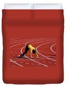 Track And Field 1 Duvet Cover