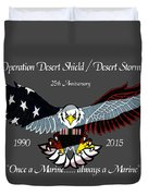 Once A Marine Duvet Cover