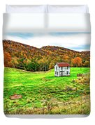 Once Upon A Mountainside 2 - Paint Duvet Cover