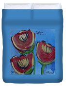 Once Upon A Yoga Mat Poppies 2 Duvet Cover
